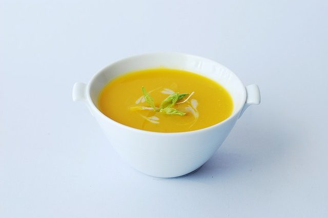 Homemade soup of the day from modena restaurant